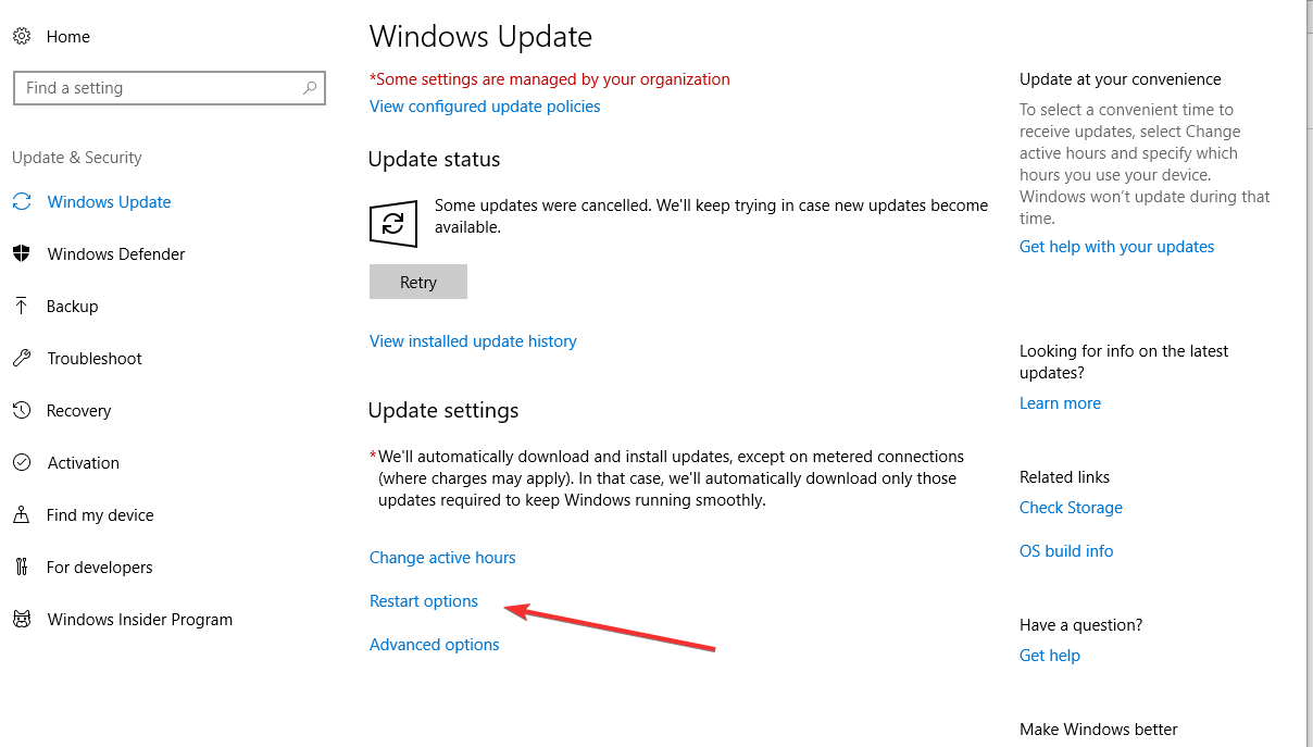 Delaying Windows 10 Automatic Update Reboots – Clearview